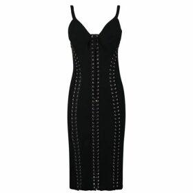 Dolce and Gabbana Stretch Cady Bustier Dress
