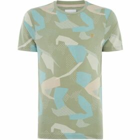 Farah Northenen Camo Crew Neck T-Shirt