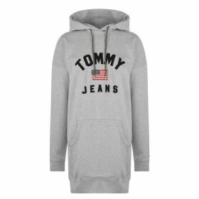 Tommy Jeans Tommy Logo Hoodie - PALE GREY HTR