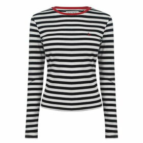 Jack Wills Lichford Long Sleeve Stripe T Shirt - Black