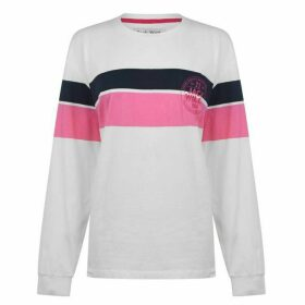 Jack Wills Abcott Long Sleeve Ski Graphic T Shirt - White