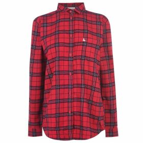 Jack Wills Guilden Checked Boyfriend Shirt - Red