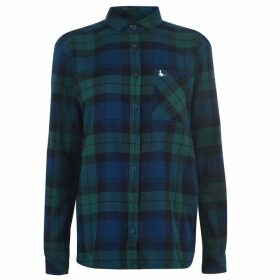Jack Wills Blissford Boyfriend Check Shirt - Green