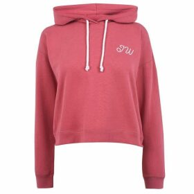 Jack Wills Belmont Cropped Hoodie Ladies - Berry