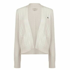 Jack Wills Wingate Cable Cardigan - Vintage White