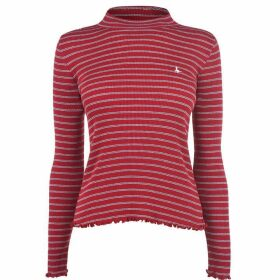 Jack Wills Marston Stripe Long Sleeve Top - Red