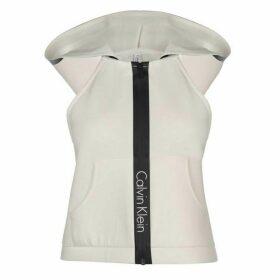 Calvin Klein Drop Racer Back Hoodie - White