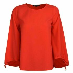 French Connection Blouse - Fire Coral