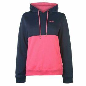 Lee Cooper Cut and Sew OTH Hoodie Ladies - Navy/Pink