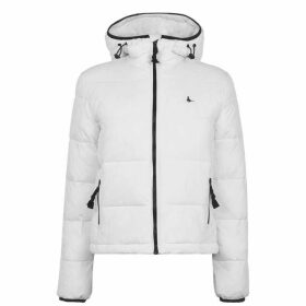 Jack Wills Tilbrook Faux Fur Lined Puffer - White