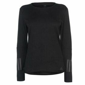 adidas Response Long Sleeve T Shirt Ladies - Black