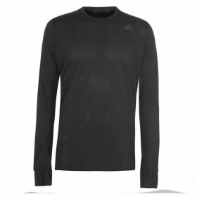 adidas Snova Long Sleeve Running Top Mens - Black