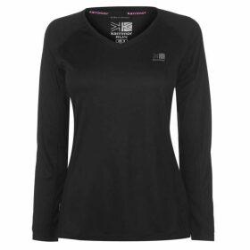 Karrimor Long Sleeve Running T Shirt Ladies - Black