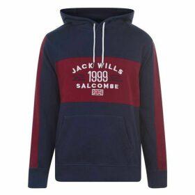Jack Wills Dorneywood Cut And Sew Hoodie - Navy