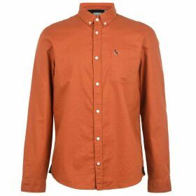 Jack Wills Wadsworth Plain Oxford Shirt - Ginger