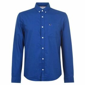 Jack Wills Wadsworth Plain Oxford Shirt - Deep Blue