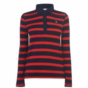 Jack Wills Pitcher Knit Stripe Rugby Top - Navy