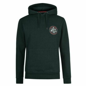 Jack Wills Charlie Graphic Hoodie - Dark Green