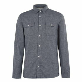 Jack Wills Barberry Jaspe 2 Pocket Shirt - Navy