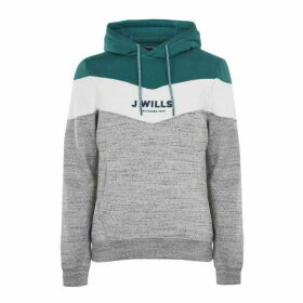 Jack Wills Wirksworth Cut And Sew Hoodie - Grey Marl