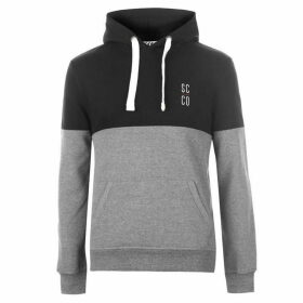 SoulCal Colour Block OTH Hoodie Mens - Black/Charcoal