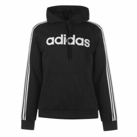 adidas Three Stripe Essentials Hoodie Mens - Black