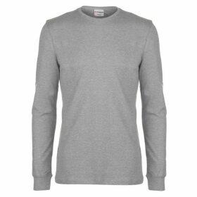 Airwalk Long Sleeve Logo T Shirt Mens - Grey