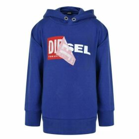 Diesel Salby Peel Hooded Logo Sweatshirt - Blue K81B