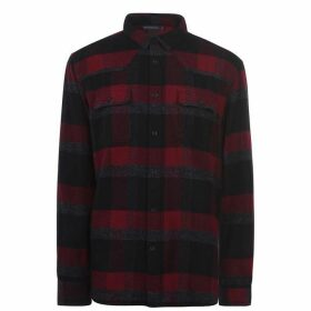 French Connection Flannel Shirt - Crushed Cherry