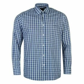 Pierre Cardin Long Sleeve Shirt Mens - Blue Check