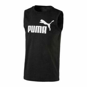 Puma No1 Sleeveless T Shirt - Black/White