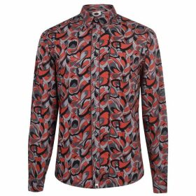 Pretty Green Experienced Shirt - Multi Orange