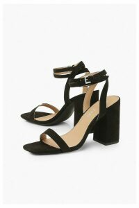 Womens Two Part Block Heels - Black - 8, Black