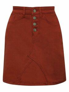 Women's JDY ladies high waisted button front mini skirt