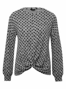 Women's Ladies Spot Knot Front Top