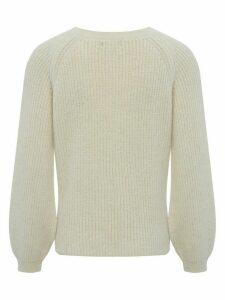 Women's Ladies blouson sleeve jumper