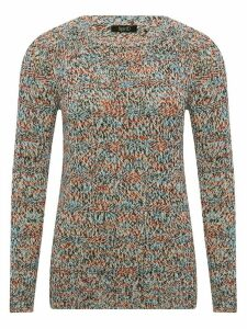 Women's Ladies Spirit multi coloured mixed knit jumper