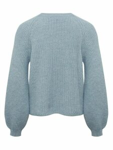 Ladies petite blouson sleeve jumper  - Pale Blue