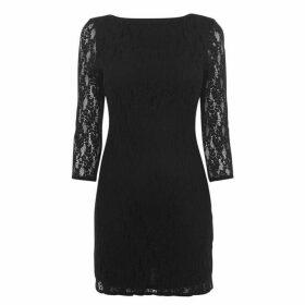Jack Wills Northiam Lace Shift Dress - Black