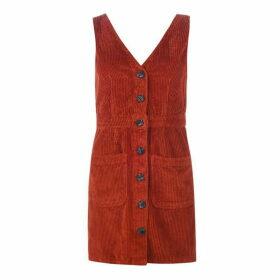 Jack Wills Amber Cord Dress - Rust