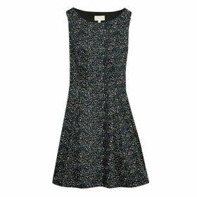 Jack Wills Springbourne Ditsy Print Dress - Black
