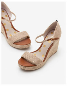Lily Espadrille Wedges Ivory Women Boden, Ivory