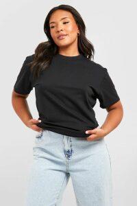 Womens Plus Basic Scoop Neck Tshirt - black - 20, Black