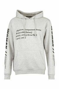 Womens Woman Sleeve Print Graphic Hoodie - Grey - 10, Grey