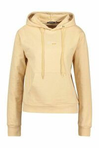 Womens Official Woman Over The Head Hoodie - Beige - 8, Beige