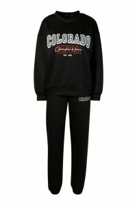 Womens Colorado Denver Oversized jumper Tracksuit - black - 16, Black