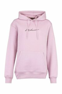 Womens Woman Signature Oversized Hoodie - purple - 16, Purple
