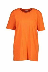 Womens Back Print Oversized T-Shirt - orange - M, Orange