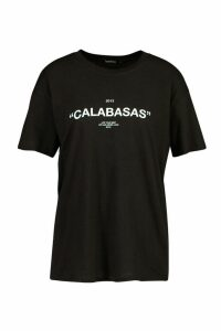 Womens Calabasass Slogan T-Shirt - black - XL, Black