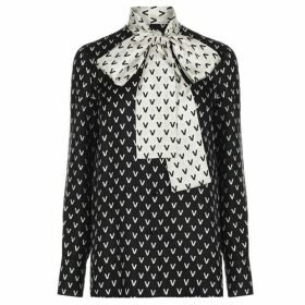 Valentino All Over Logo Blouse